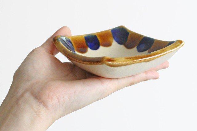 四角小鉢 輪 陶器 土工房 陶糸 やちむん 画像6
