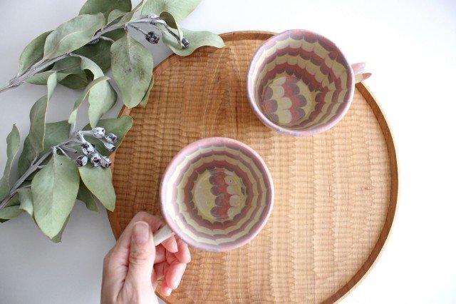 マグカップ うずら ピンク 陶器 陶芸工房ももねり。 草なぎ桃江 画像2