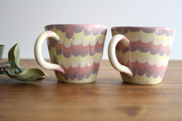 マグカップ うずら ピンク 陶器 陶芸工房ももねり。 草なぎ桃江 画像6