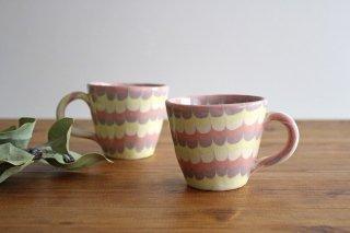 マグカップ うずら ピンク 陶器 陶芸工房ももねり。 草なぎ桃江商品画像