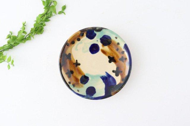 5寸皿 泡 陶器 土工房 陶糸 やちむん