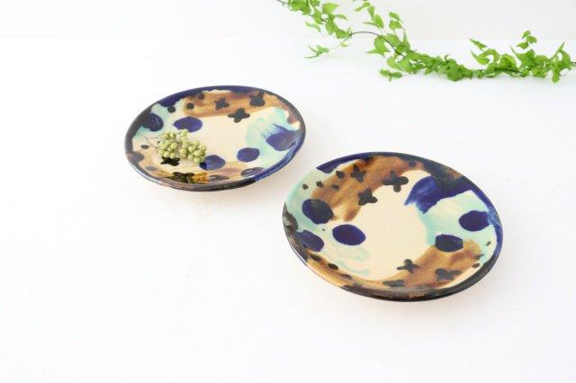 5寸皿 泡 陶器 土工房 陶糸 やちむん 画像2