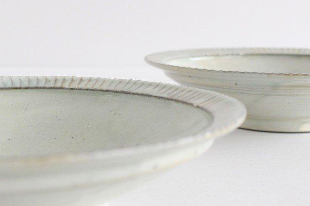 粉引 7寸リム鎬鉢 【B】 陶器 市野耕 画像5