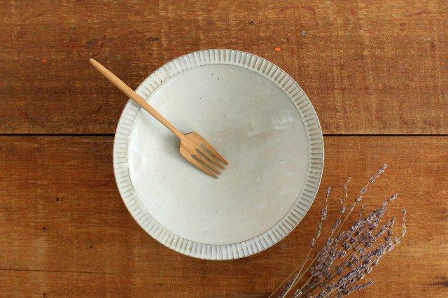 粉引 7寸リム鎬鉢 【B】 陶器 市野耕 画像6