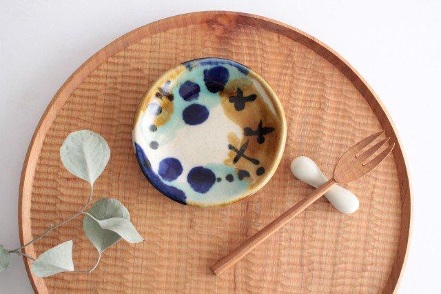 3.5寸皿 泡 陶器 土工房 陶糸 やちむん