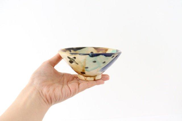 4寸マカイ 泡 【A】 陶器 土工房 陶糸 やちむん 画像2