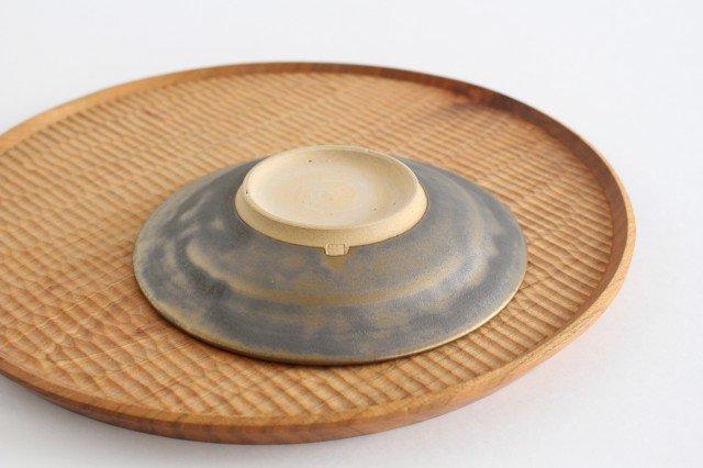 マンガン釉 5寸葉紋皿 【A】 陶器 市野耕 画像3