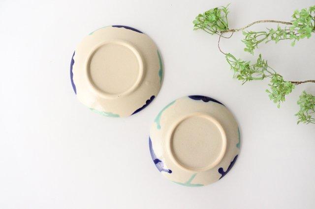 5寸皿 海 【A】 陶器 土工房 陶糸 やちむん 画像2