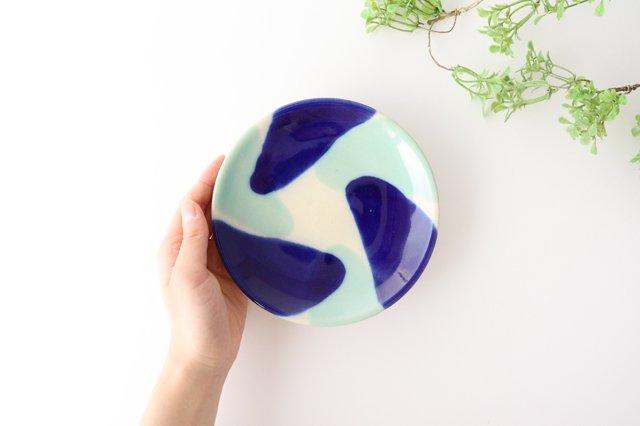 5寸皿 海 【A】 陶器 土工房 陶糸 やちむん 画像3