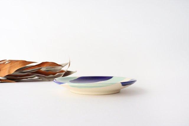 5寸皿 海 【A】 陶器 土工房 陶糸 やちむん 画像5