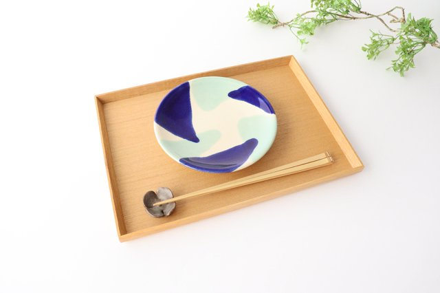 5寸皿 海 陶器 土工房 陶糸 やちむん 画像6