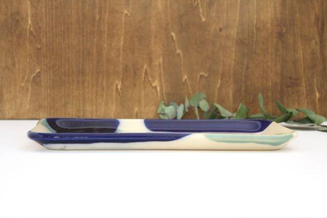 長角皿 幅広 海  【A】 陶器 土工房 陶糸 やちむん 画像4