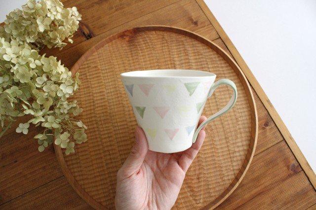 ガーランド マグカップ 緑 磁器 中村かおり 画像4