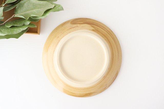 7寸皿 ドット 【B】 白 陶器 土工房 陶糸 やちむん 画像5