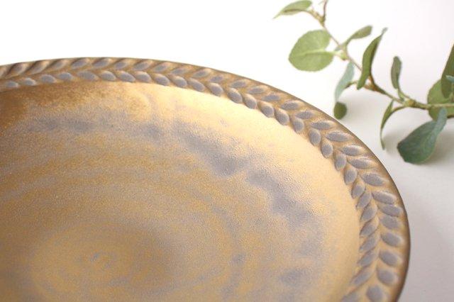 マンガン釉 7寸葉紋皿 【B】 陶器 市野耕 画像2