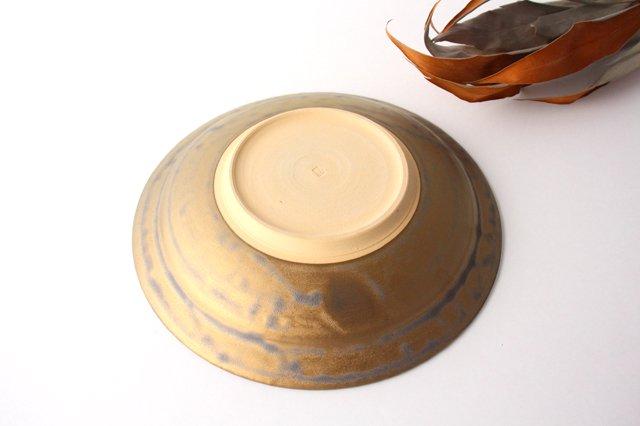 マンガン釉 7寸葉紋皿 【B】 陶器 市野耕 画像3
