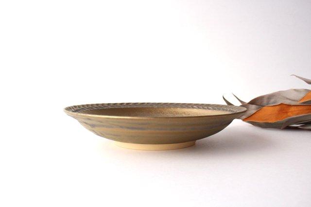 マンガン釉 7寸葉紋皿 【B】 陶器 市野耕 画像5