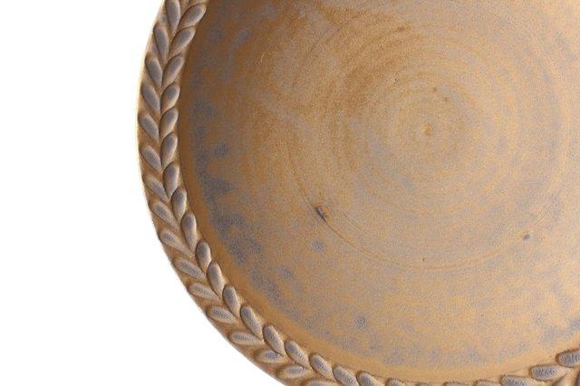 マンガン釉 7寸葉紋皿 【B】 陶器 市野耕 画像6