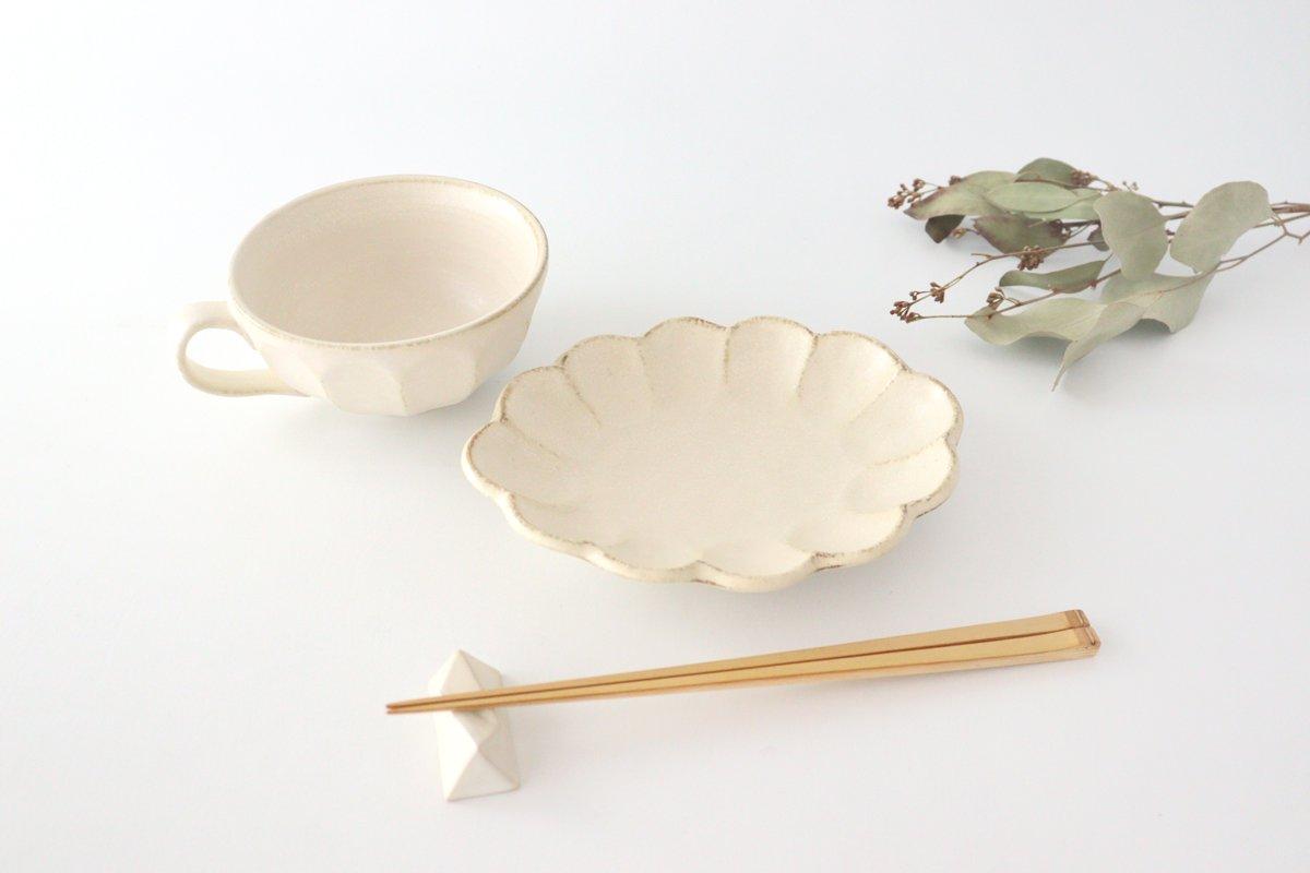 美濃焼 菊花 楕円皿 白 磁器 画像3