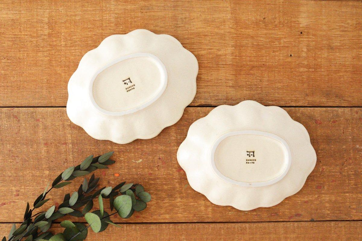 美濃焼 菊花 楕円皿 白 磁器 画像5