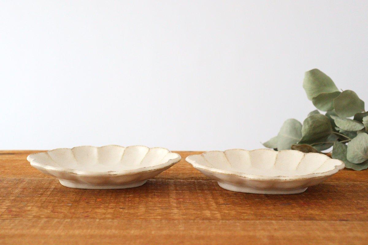 美濃焼 菊花 楕円皿 白 磁器 画像6