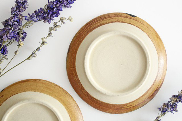 7寸皿 ドット グリーン 陶器 土工房 陶糸 やちむん 画像3