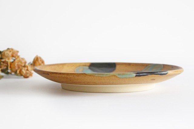 7寸皿 ドット グリーン 陶器 土工房 陶糸 やちむん 画像5