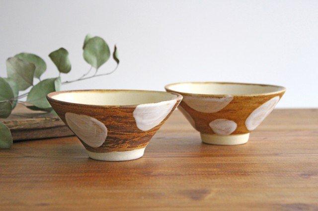 4寸マカイ ドット 白 陶器 土工房 陶糸 やちむん 画像3