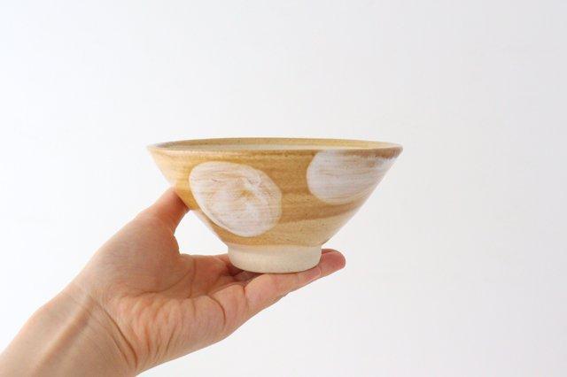 4寸マカイ ドット 白 陶器 土工房 陶糸 やちむん 画像6