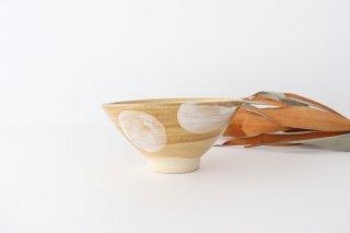 4寸マカイ ドット 白 陶器 土工房 陶糸 やちむん商品画像