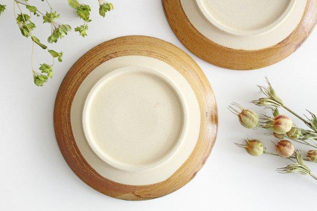 7寸皿 ドット 【A】 白 陶器 土工房 陶糸 やちむん 画像2