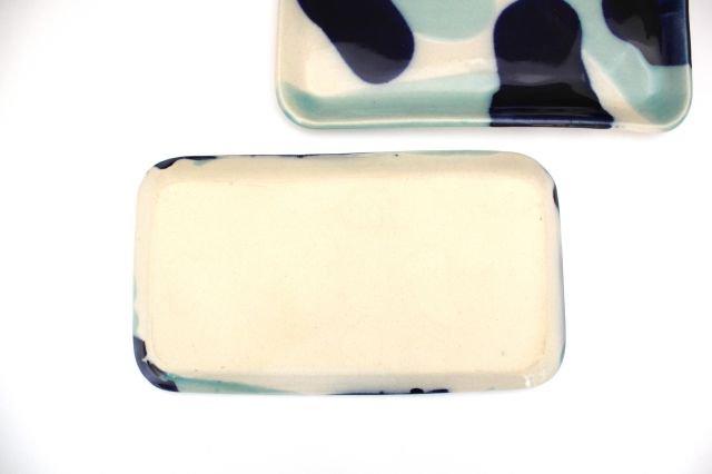長角皿 幅広 海 【B-1】 陶器 土工房 陶糸 やちむん 画像3