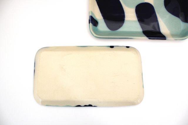 長角皿 幅広 海 【B-2】 陶器 土工房 陶糸 やちむん 画像3