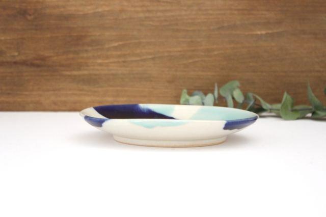5寸皿 海 【B】 陶器 土工房 陶糸 やちむん 画像2