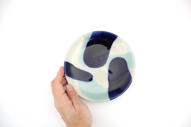 5寸皿 海 【B】 陶器 土工房 陶糸 やちむん 画像4