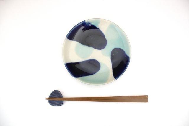 5寸皿 海 【B】 陶器 土工房 陶糸 やちむん 画像6