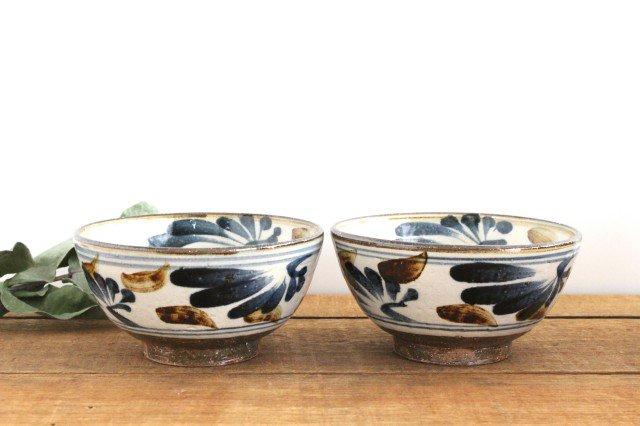 5.5寸マカイ 唐草 ゴスアメ 陶器 陶芸こまがた 駒形爽飛 やちむん 画像3