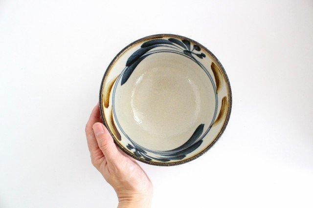 5.5寸マカイ 唐草 ゴスアメ 陶器 陶芸こまがた 駒形爽飛 やちむん 画像4