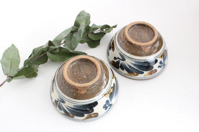 5.5寸マカイ 唐草 ゴスアメ 陶器 陶芸こまがた 駒形爽飛 やちむん 画像6