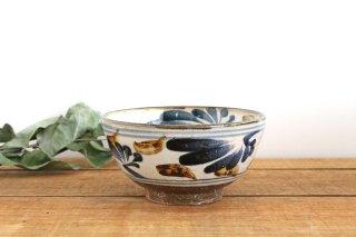 5.5寸マカイ 唐草 ゴスアメ 陶器 陶芸こまがた 駒形爽飛 やちむん商品画像