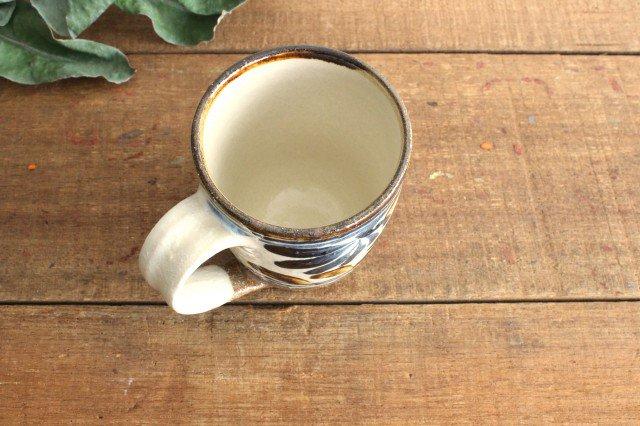 マグカップ 唐草 ゴスアメ 陶器 陶芸こまがた 駒形爽飛 やちむん 画像2