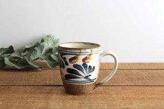 マグカップ 唐草 ゴスアメ 陶器 陶芸こまがた 駒形爽飛 やちむん商品画像