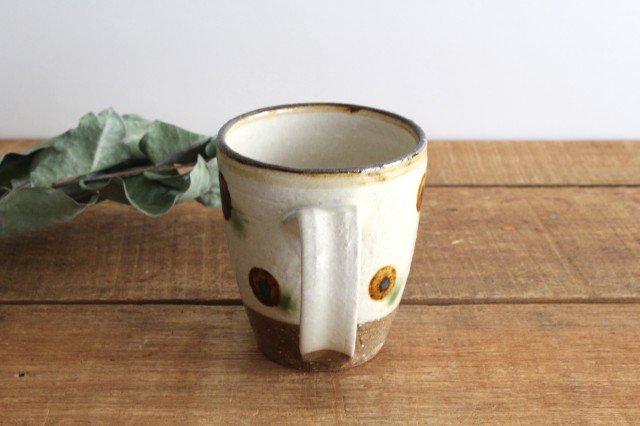 マグカップ ドット オーグスヤアメ 陶器 陶芸こまがた 駒形爽飛 やちむん 画像3