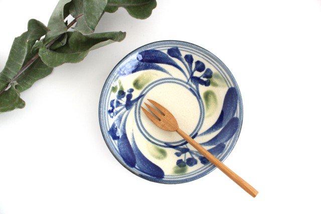 5寸皿 唐草 ゴスオーグスヤ 陶器 陶芸こまがた 駒形爽飛 やちむん
