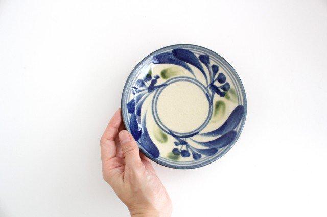 5寸皿 唐草 ゴスオーグスヤ 陶器 陶芸こまがた 駒形爽飛 やちむん 画像2