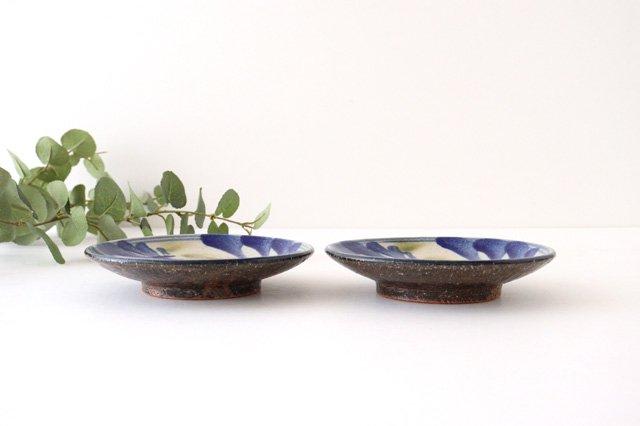 5寸皿 唐草 ゴスオーグスヤ 陶器 陶芸こまがた 駒形爽飛 やちむん 画像3