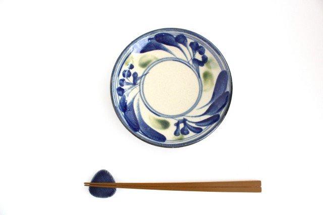 5寸皿 唐草 ゴスオーグスヤ 陶器 陶芸こまがた 駒形爽飛 やちむん 画像5