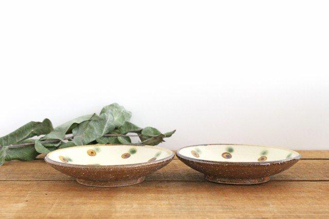 5寸皿 ドット オーグスヤアメ 陶器 陶芸こまがた 駒形爽飛 やちむん 画像2