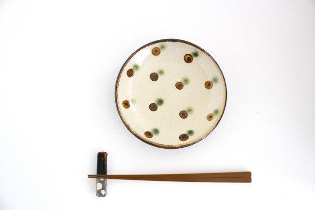 5寸皿 ドット オーグスヤアメ 陶器 陶芸こまがた 駒形爽飛 やちむん 画像3