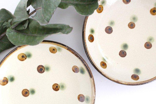 5寸皿 ドット オーグスヤアメ 陶器 陶芸こまがた 駒形爽飛 やちむん 画像4